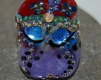"Mystè Glass Mask Collector's item  ""Venetian""  bead - SRA"