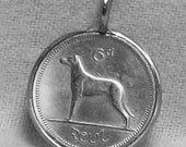 Ireland Wolfhound Coin Pendant (E-958)