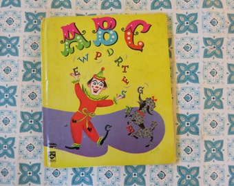 CUTE Vintage 1956 ABC book