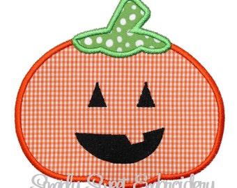 Jackolantern Pumpkin Machine Embroidery Applique Design