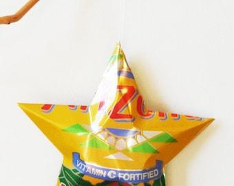 HUGE Arizona Mucho Mango Star, Christmas Ornaments Aluminum Can Upcycled