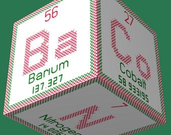 Periodic Element Bacon 3D Ornament Cross Stitch Sewing  Pattern PDF