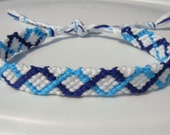 Blue and Turquoise Friendship Bracelet