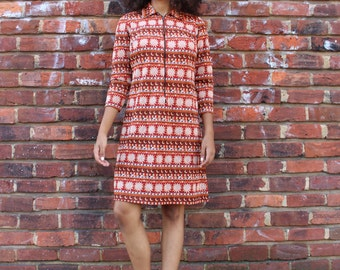 Vintage Sun & Moon Zip Front Dress