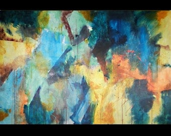 Abstract Large Canvas Acrylic Painting - Translation 1
