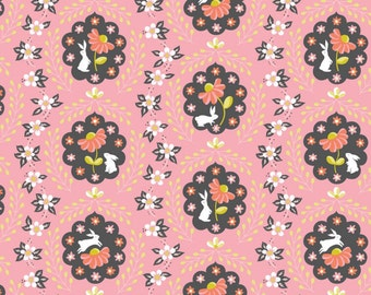 SALE - Blend Fabrics - Born Wild Collection - Bunny Patch in Pink