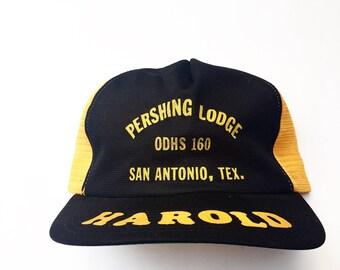 "Vintage Pershing Lodge ""Harold"" Trucker Cap"