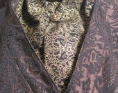 Black and Gold Victorian Pattern Ascot