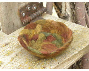 Braided Felted Wool Bowl