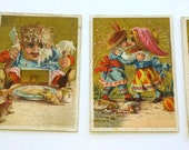 4 Victorian Trading Cards Antique
