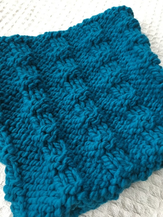 Turquoise Neckwarmer Infinity Scarf Chunky Knit Scarf