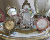 Reserved for Lola..........Vintage Rhinestone Jewelry Picture Frame