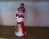Vintage Salt Shaker Snowman, Snowlady