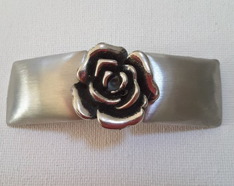 Silver French clip barrette