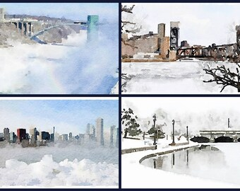 Winter in Buffalo Note cards limited edition