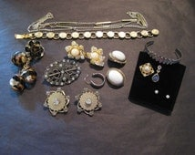 Jewelry Lot for crafts,Jewelry for Hobbies,Vintage Jewelry for Projects, Assortment of Jewelry for Repurposing