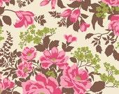 1 Yard - Joel Dewberry Home Decor Sateen Heirloom Rose Bouquet Sepia - 1 Yard