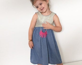 SALE---Blue Sparkle, Sequin Dress, one of kind size 4/5, ready to ship