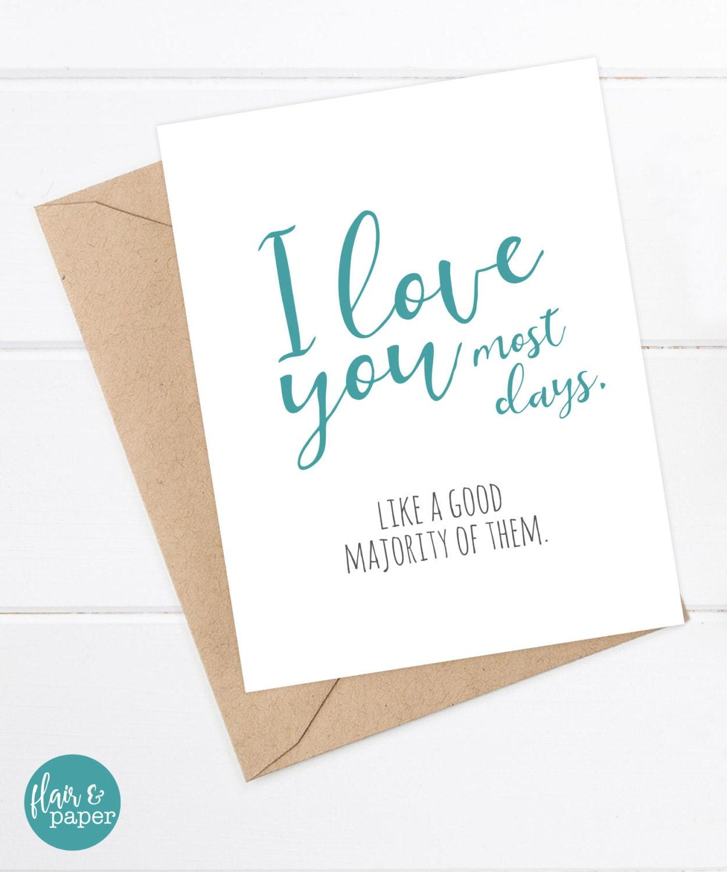 I Love You Card Boyfriend Card Awkward Card Snarky Card: I Love You Card Snarky Boyfriend Card Funny Boyfriend Card