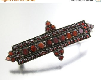 30% Off Sale Victorian Garnet Brooch