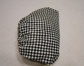 Black and White Hounds Tooth Cuddle Fitted Baby Crib Sheet