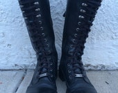Harley Davidson leather lace up combat boots US men's 6, women's 8