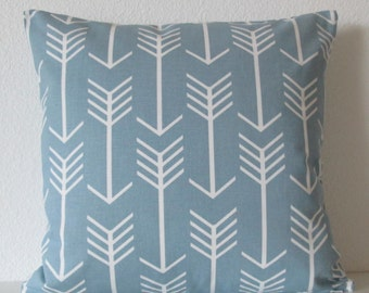 Pillow Cover - Cashmere blue arrow - tribal pillow cover - Cushion Cover