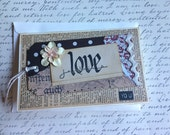 Handmade Greeting Card With Love Themed Shipping Tag