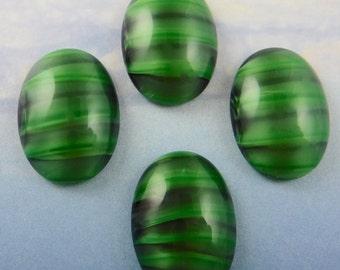 Green Striped Stone Etsy