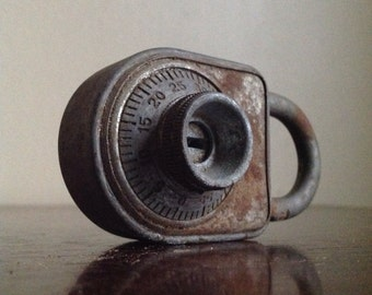 Vintage Industrial Combination Lock. Dudley Lock Corp. Chicago, IL
