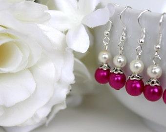 Plum Bridesmaids Earrings