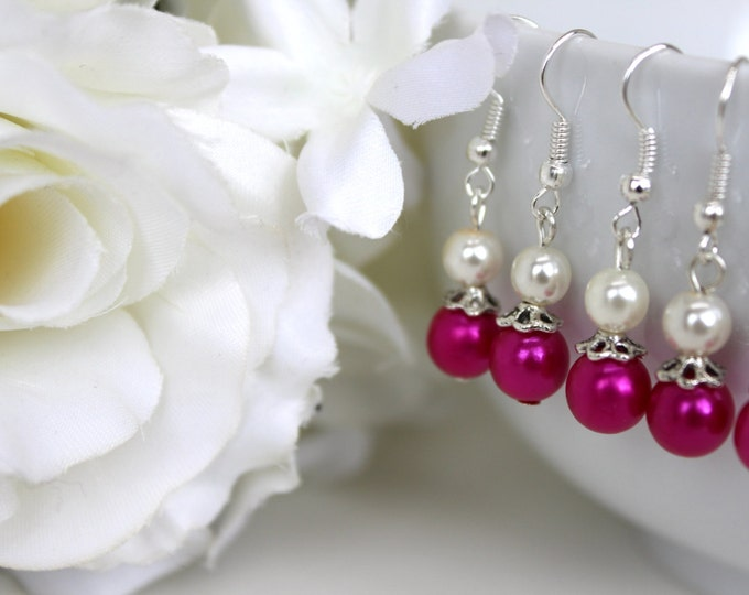 Plum Bridesmaids Earrings