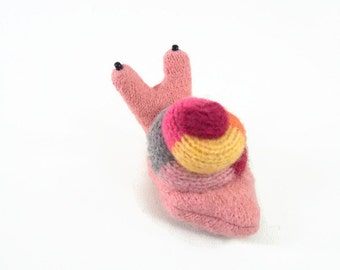 garden snail, waldorf toy, all natural toy, eco friendly toy, small stuffed snail, stuffed animal,