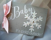 Baby, It's Cold Outside Glitter Snowflake Baby Shower Invitation... SAMPLE
