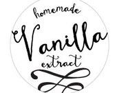 "Homemade Vanilla Extract Tag - 1.5"" - Digital Download"