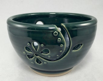 Handmade ceramic yarn bowl