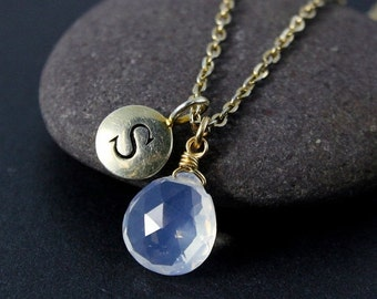 25% OFF Ice Quartz Initial Charm Necklace – Choose Your Setting