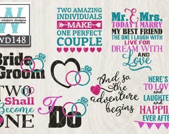 SVG Wedding, Wedding SVG, Wedding vector, svg file, dxf file, weddings, vector, wordart