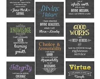 """SALE All 8 Young Women's Values bundle 8""""x10"""" Digital prints"""