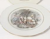 Vintage 1977 Winter Scene Plate AVON Representative Award Exclusive, Collectable Plates, 1977 Series Avon Plates, Serving Plates