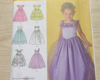 Girl's Special Occasion Dress, Flower Girl, Wedding, Party Dress Pattern / UNCUT