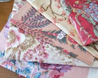 Vintage Polished Cotton Remnants Samples Strips Etc. - 4 Lbs. 1950's