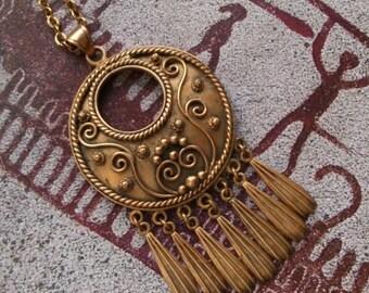 Viking Medieval style pendant bronze ornate dangles Sweden Norway Denmark Iceland norse