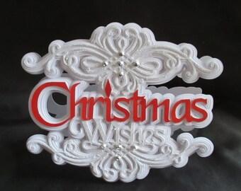 Christmas Scroll Card, SVG,MTC,CRICUT,Cameo,ScanNCut