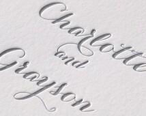 Formal Letterpress wedding invitations