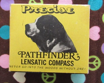 Vintage Precise Pathfinder/Boy Scouts Lensatic Compass With Box and Instructions