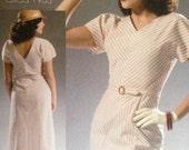 Retro Vintage 30s 1930s Dress Pattern Reissue McCalls 7153 size 14-22 bust 36-44 S M L XL Plus
