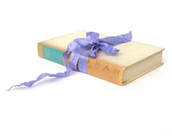 Mansfield Park by Jane Austen, Vintage Jane Austen Book, Antique Austen Book, Aqua and Cream Interior Design, Jane Austen Wedding Decor