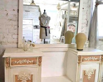 Painted Cottage Chic Shabby Romantic Vanity VAN705