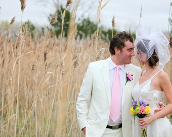 Double Blusher Birdcage Veil / made to order